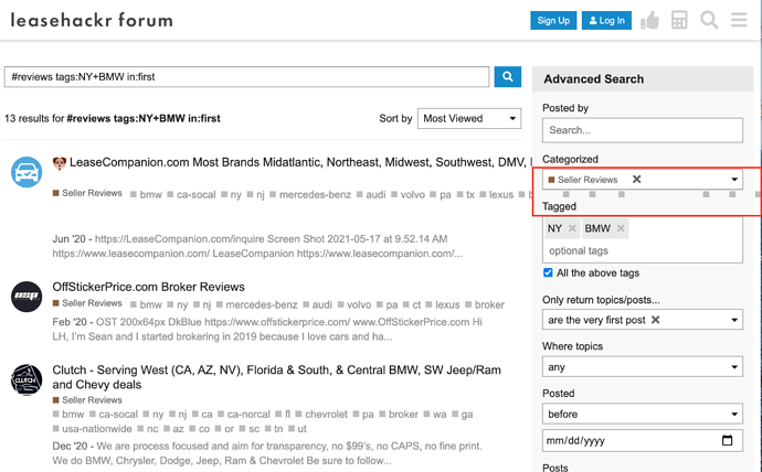 tag overflow search