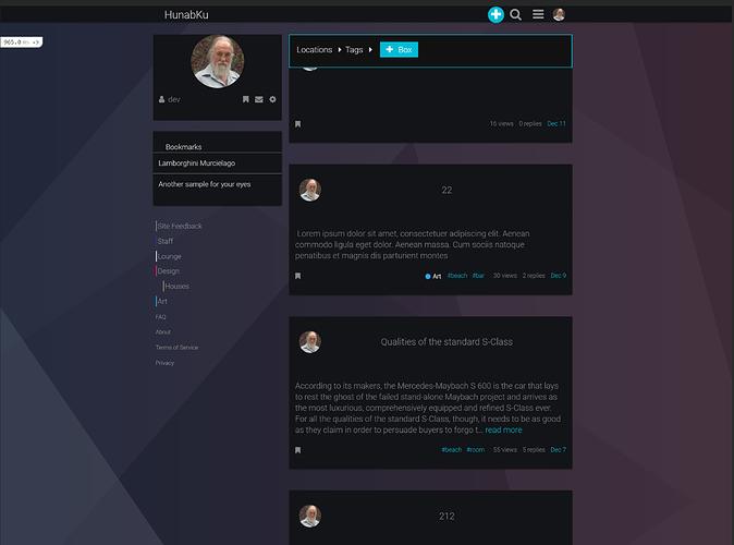 current menu overlaps with content