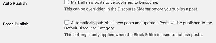 wp-discourse auto publish