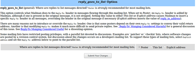 Allow reply-to individual instead of topic/forum (mailing