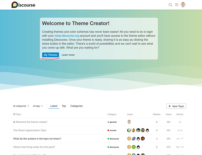 Theme Creator, create and show themes without installing