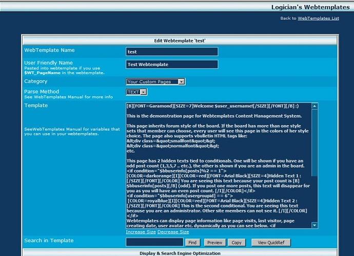 WebTemplate_AdminCP_ScreenShot