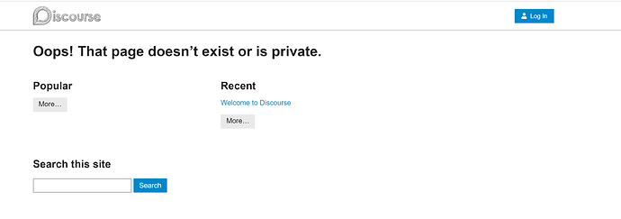 pb discourse ERROR PAGE NOT EXISTING