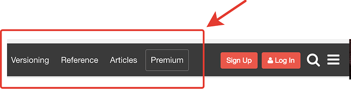 Add new link on header beside search icon - tips & tricks