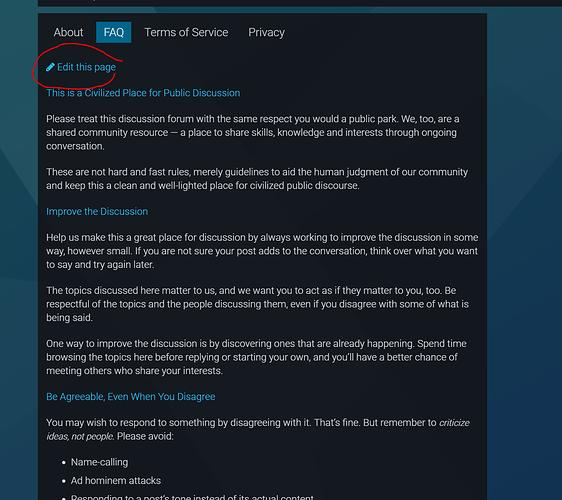 Edit FAQ