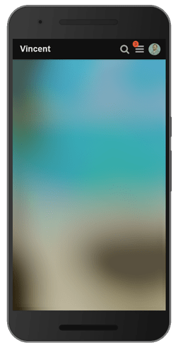Discourse blurred background mobile
