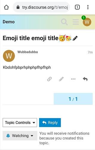 2 emojis in topic title