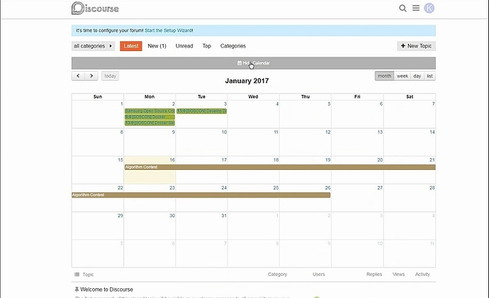 Discourse calendar plugin - broken-plugin - Discourse Meta