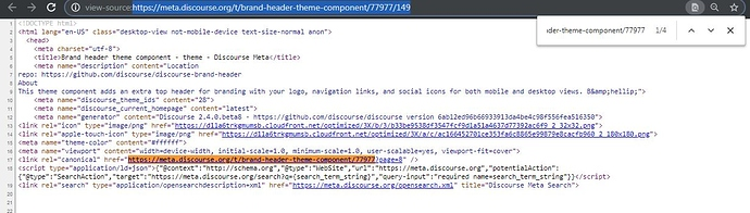 Discourse Page View Source - Canonical URL