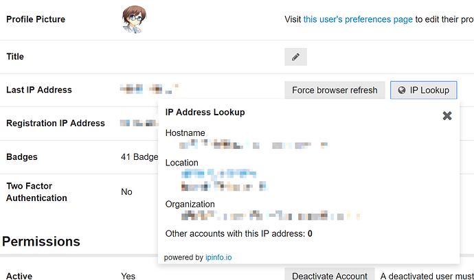 Problematic IP address fields - feature - Discourse Meta