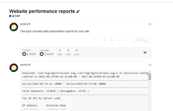 Analyzing Discourse Performance using NGINX logs - sysadmin