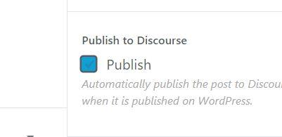 publishToDiscourse