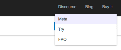Custom header with dropdown navigation - developers - Discourse Meta
