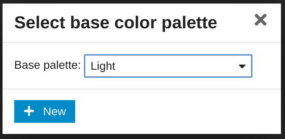 create color palette modal