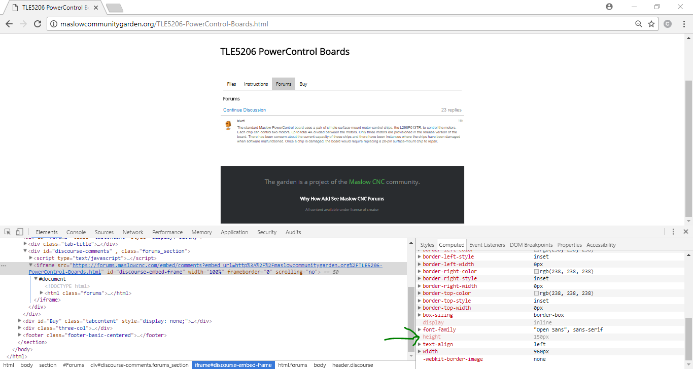 Embedded Comments iframe Height Not Set - support - Discourse Meta