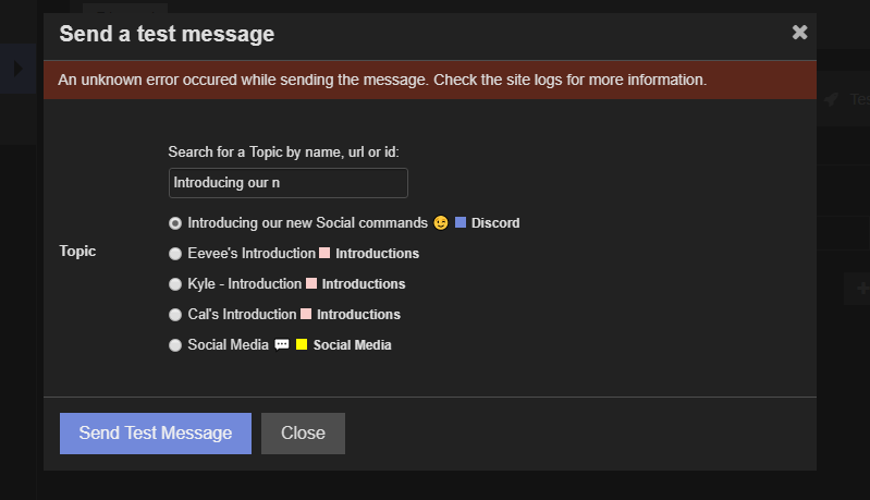 Set up Discord notifications using the discourse-chat