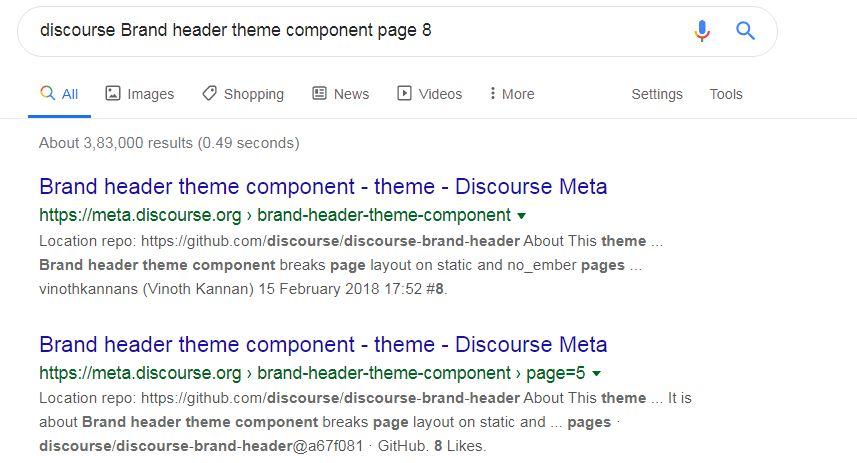 Discourse Google Search 1