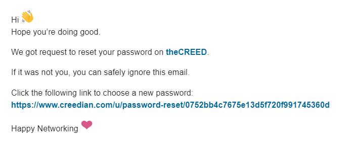 🔔 theCREED Password reset - sanju softscotch com - Softscotch Mail