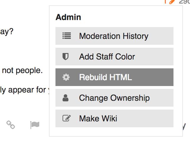 rebuild html button